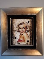 Untitled Portrait of Marilyn Monroe Hollywood Sign 2014 27x24 Limited Edition Print by Bill Mack - 1