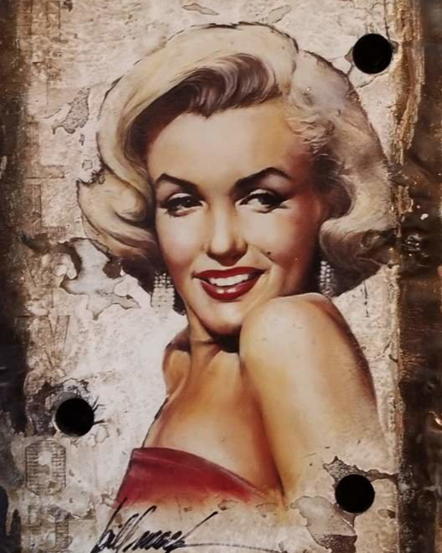 Untitled Portrait of Marilyn Monroe Hollywood Sign 2014 27x24 Limited Edition Print by Bill Mack