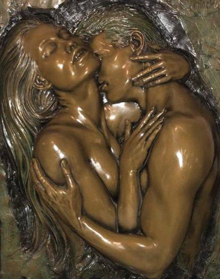 Embrace Bonded Bronze Sculpture 1990 43 in Sculpture by Bill Mack