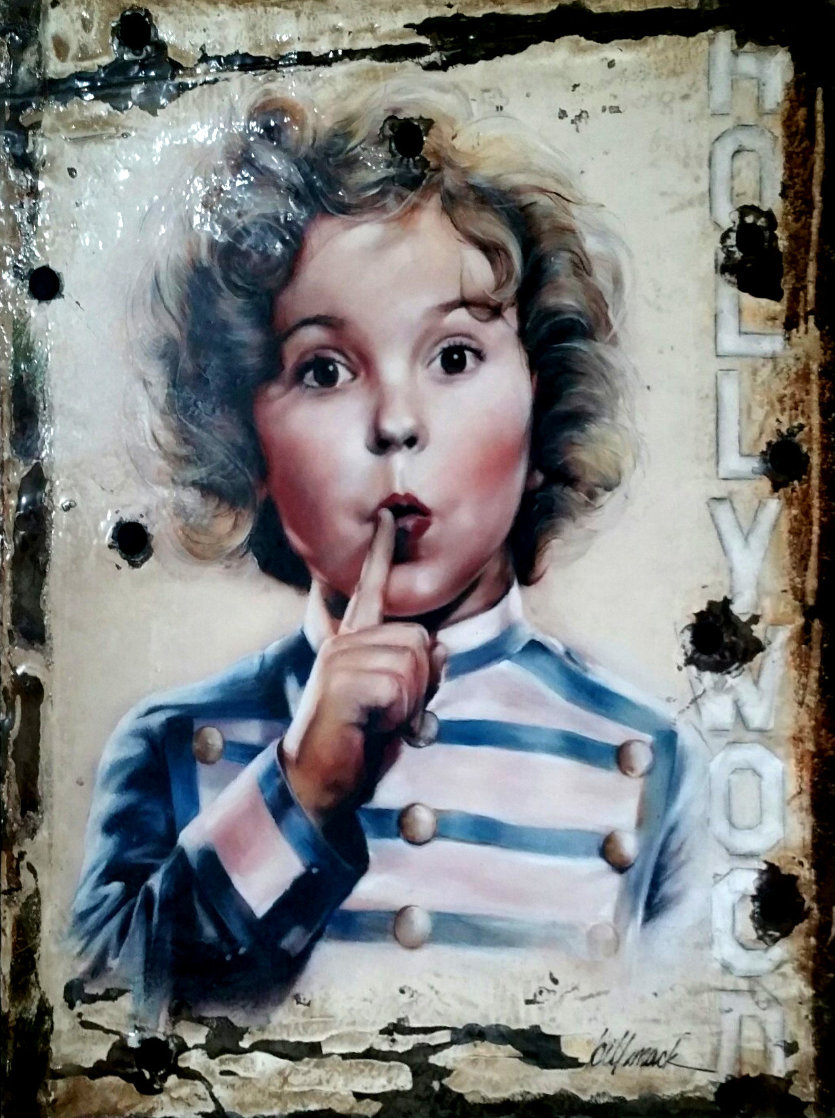 Shirley Temple - Hollywoodland Sign 2018 48x42 Super Huge Original Painting by Bill Mack
