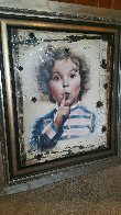 Shirley Temple - Hollywoodland Sign 2018 48x42 Super Huge Original Painting by Bill Mack - 1