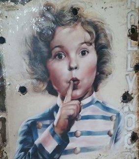 Shirley Temple - Hollywoodland Sign 2018 48x42 Original Painting - Bill Mack