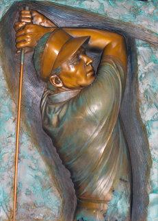 Classic Finish Mixed Metals Sculpture 1990 34x25 Sculpture by Bill Mack