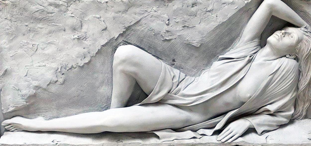 Radiance Bonded Sand Sculpture 1990  Huge 30x63 Sculpture by Bill Mack