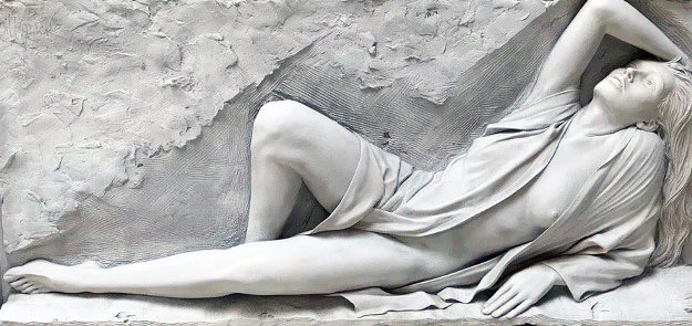 Radiance Bonded Sand Sculpture 1990 63 in Sculpture by Bill Mack