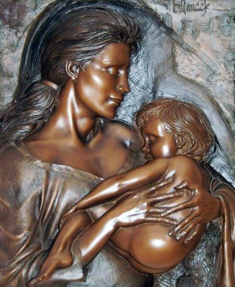 Devotion Bonded Bronze Sculpture 1998 42 in Sculpture by Bill Mack