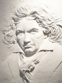 Beethoven – Music Master Bonded Sand Sculpture  1984 40x31 Sculpture by Bill Mack