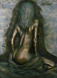 Allure Bronze Resin Sculpture 2004 24x18 Sculpture by Bill Mack