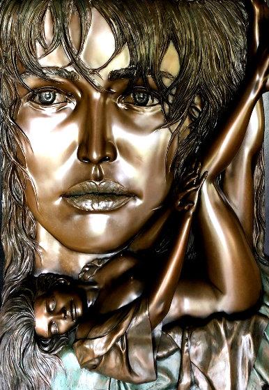 Rapture Bronze Relief Sculpture 1996 48 in Sculpture by Bill Mack