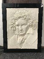 Beethoven Bonded Sand Sculpture 1984 40x31 Huge Sculpture by Bill Mack - 1