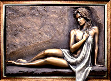 Admiration Bronze Relief Sculpture 2006 43 in  Sculpture - Bill Mack