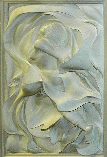 Fantasy Acrylic Relief Sculpture 1988 38 in Sculpture by Bill Mack