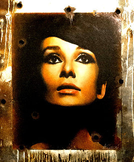 Audrey Hepburn 2008 50x42 Original Painting - Bill Mack
