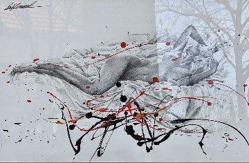 Untitled Drawing 31x43 Huge Drawing - Bill Mack