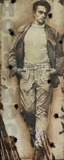 Radically Cool, James Dean Hollywood Sign Original Painting - Bill Mack