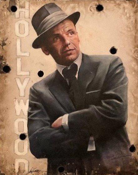 My Way, Frank Sinatra Hollywood Sign Original Painting by Bill Mack