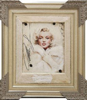 Legend in Mink Marilyn Monroe 2016 42x37 Original Painting - Bill Mack