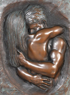 Love Bonded Bronze 2005 38x31 Sculpture - Bill Mack