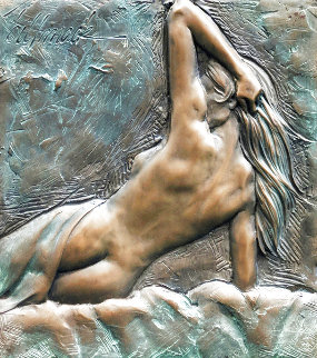 Nude Woman Bronze Sculpture 2000 18x17 Limited Edition Print - Bill Mack