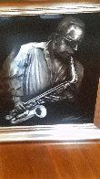 Jazzman Virtual Relief Sculpture TP 2007 34x31 Sculpture by Bill Mack - 3