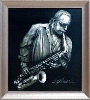 Jazzman Virtual Relief Sculpture TP 2007 34x31 Sculpture by Bill Mack - 0