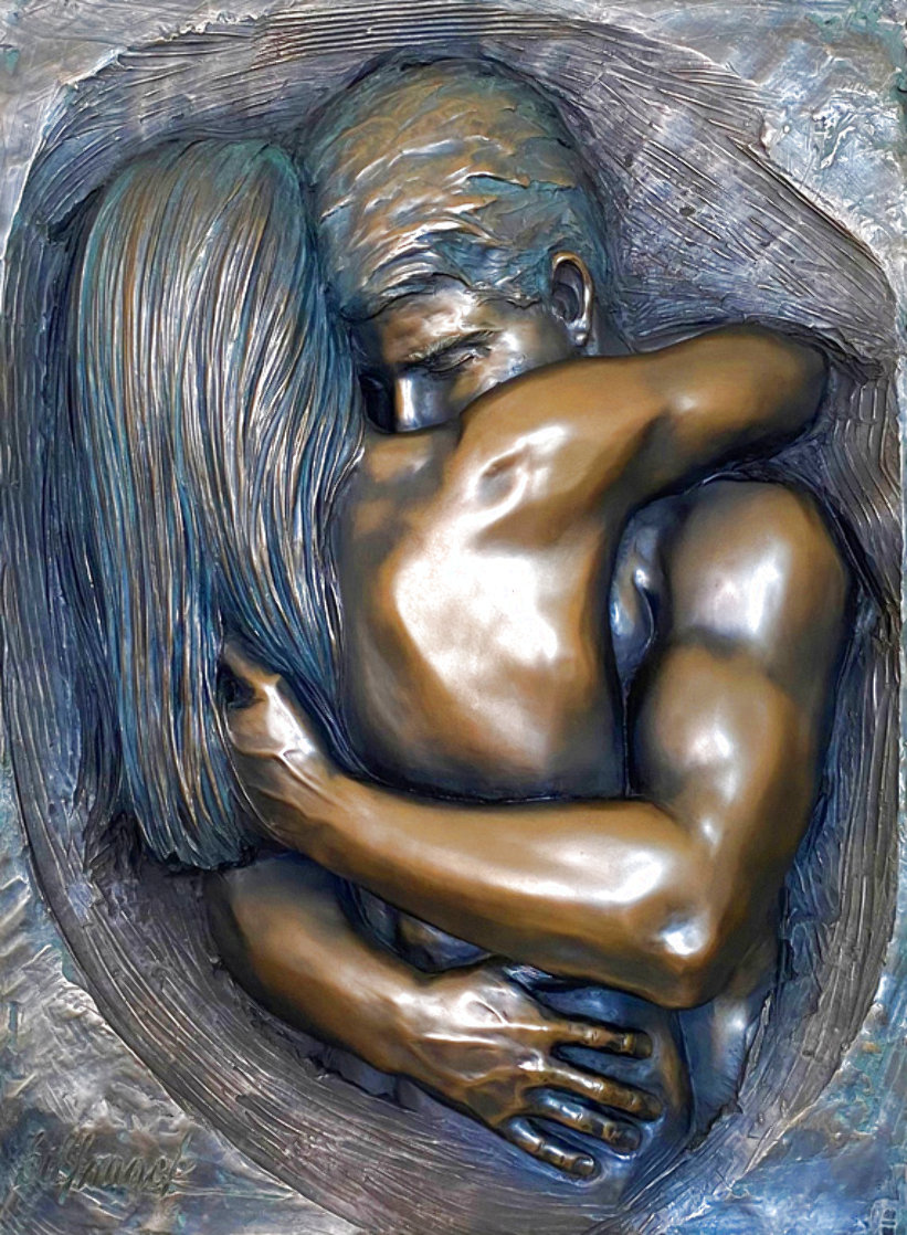 Love Virtual Mixed Media Sculptural Relief 2007 34 in Sculpture by Bill Mack