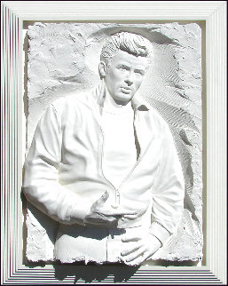 Rebel  Bonded Sand Sculpture 1989 53x40 Super Huge Sculpture - Bill Mack