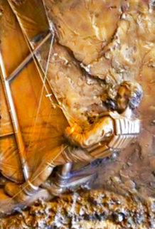 High Seas Bonded Bronze Sculpture  1987 48x37 Huge Sculpture - Bill Mack