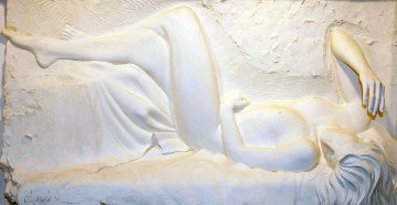 Rhapsody Bonded Sand Sculpture 1993 29x54 Sculpture - Bill Mack