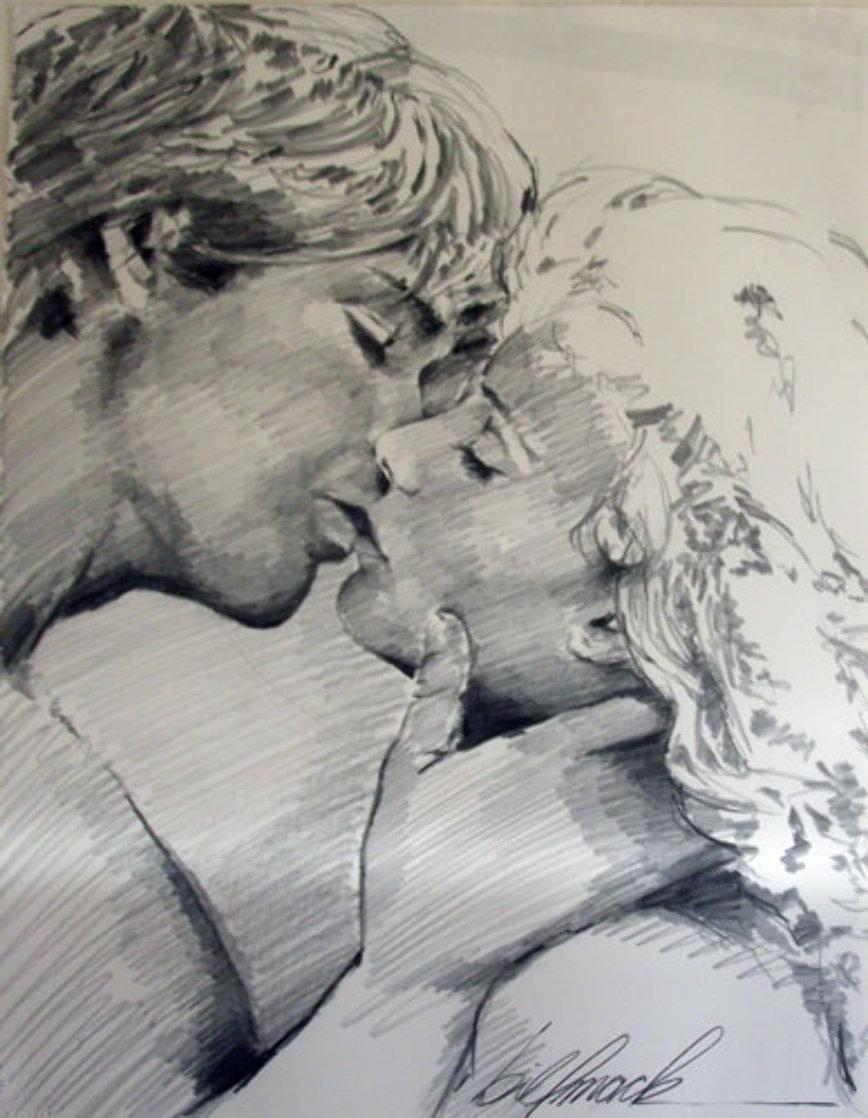 Embrace Study No.6 Drawing 1995 32x40 Drawing by Bill Mack