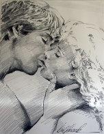 Embrace Study No.6 Drawing 1995 32x40 Drawing by Bill Mack - 0