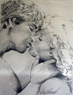 Embrace Study No.6 Drawing 1995 32x40 Drawing - Bill Mack