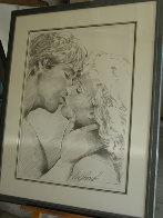Embrace Study No.6 Drawing 1995 32x40 Drawing by Bill Mack - 1