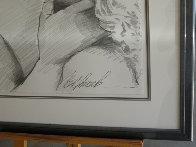 Embrace Study No.6 Drawing 1995 32x40 Drawing by Bill Mack - 2
