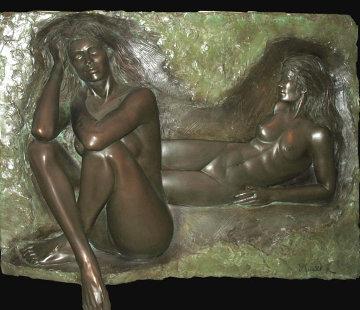 Reflection Bonded Bronze Sculpture 1987 Sculpture by Bill Mack