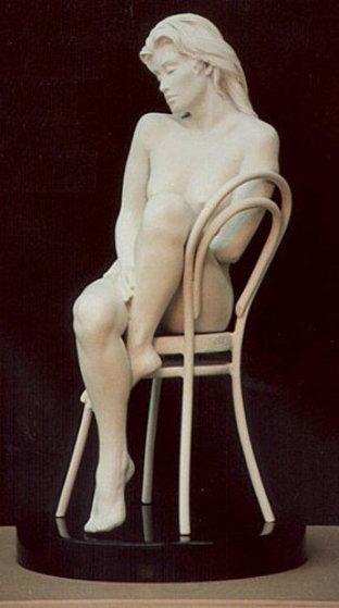 Solitude Marquette Bronze Sculpture 1995 Sculpture by Bill Mack