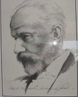Tchaikovsky Drawing 1997 40x35 Super Huge Drawing - Bill Mack