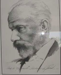 Tchaikovsky Drawing 1997 40x35 Drawing by Bill Mack