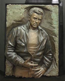 Rebel James Dean Bonded Bronze  Sculpture 1989 41x31 Sculpture - Bill Mack
