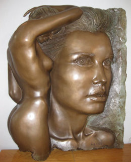 Essence Bonded Bronze Sculpture 1988 40x32 Sculpture by Bill Mack