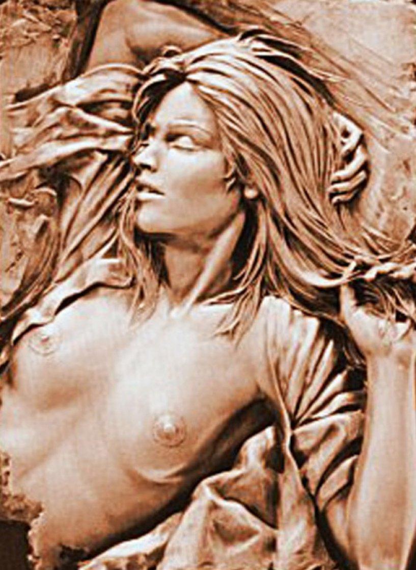 Dawn Bonded Bronze Sculpture 1991 22x16 Sculpture by Bill Mack