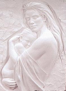 Tenderness Bonded Sand Sculpture 1995 29x22 Sculpture - Bill Mack