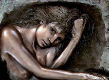 Daydream Bonded Bronze Sculpture 1989 32x41 Sculpture - Bill Mack