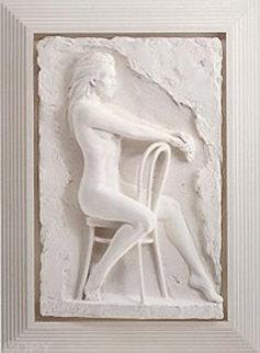 Solitude Bonded Sand Sculpture 1988 32x21 Sculpture - Bill Mack
