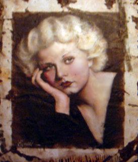 Jean Harlow Original Hollywood Sign 2005 53x45 Huge Original Painting - Bill Mack