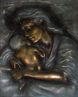 Caring Mother and Child Bronze Sculpture 2005 Sculpture - Bill Mack