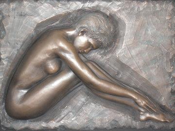 Serenity Bonded Bronze Sculpture 2007 50x39 Sculpture - Bill Mack