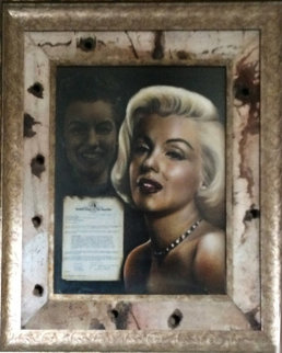 Metamorphosis of a Legend on Hollywood Sign 2008 43x53 Marilyn Monroe Original Painting - Bill Mack