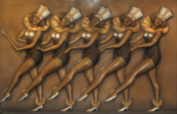 Rockettes Bronze and Mixed Metals Sculpture 2004 (New York, Radio City) 49 in Sculpture - Bill Mack