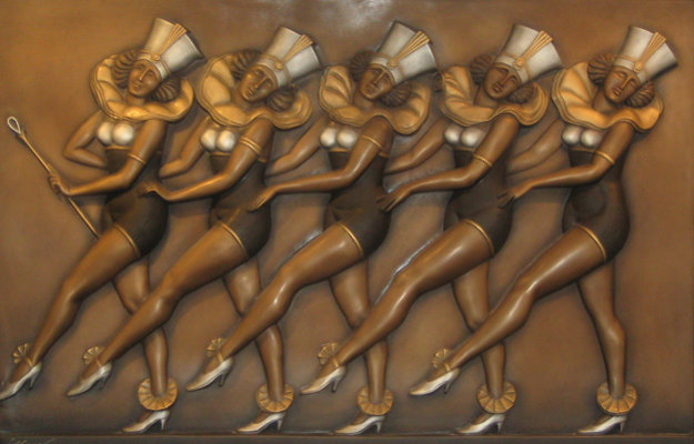 Rockettes Bronze and Mixed Metals Sculpture 2004 (New York, Radio City) 49 in Sculpture by Bill Mack